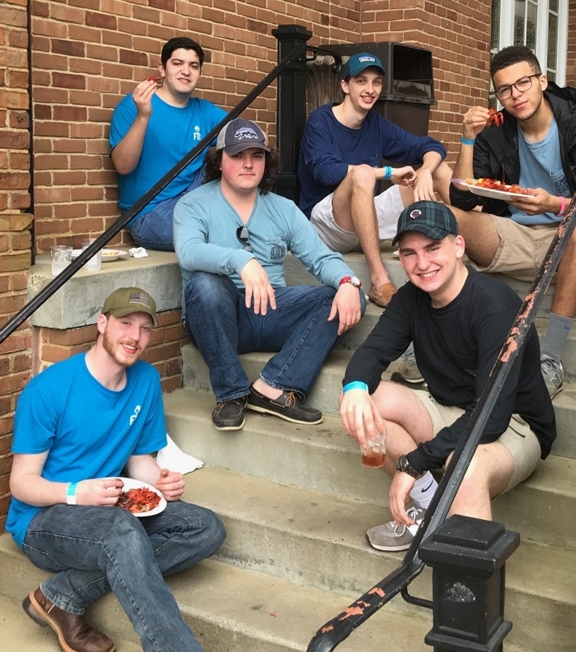 some of our members supporting  court appointed special advocates  (casa) at kappa alpha theta's annual crawfish for casa event.