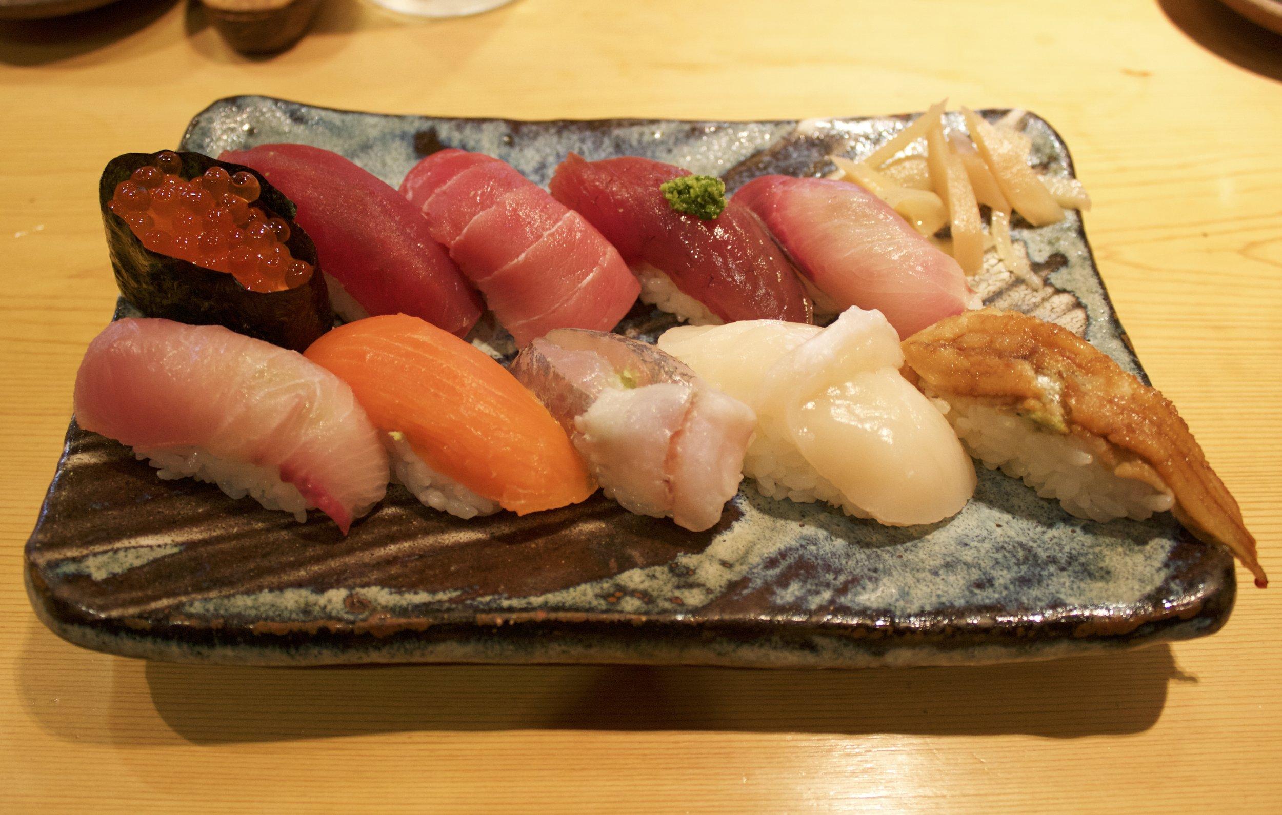 Sushi, 寿司勇 Sushi Yuu, Tokyo, Japan