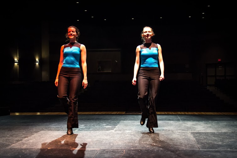 Jenny and Marielle Stepdancing at Strathspey Place, Mabou, CB
