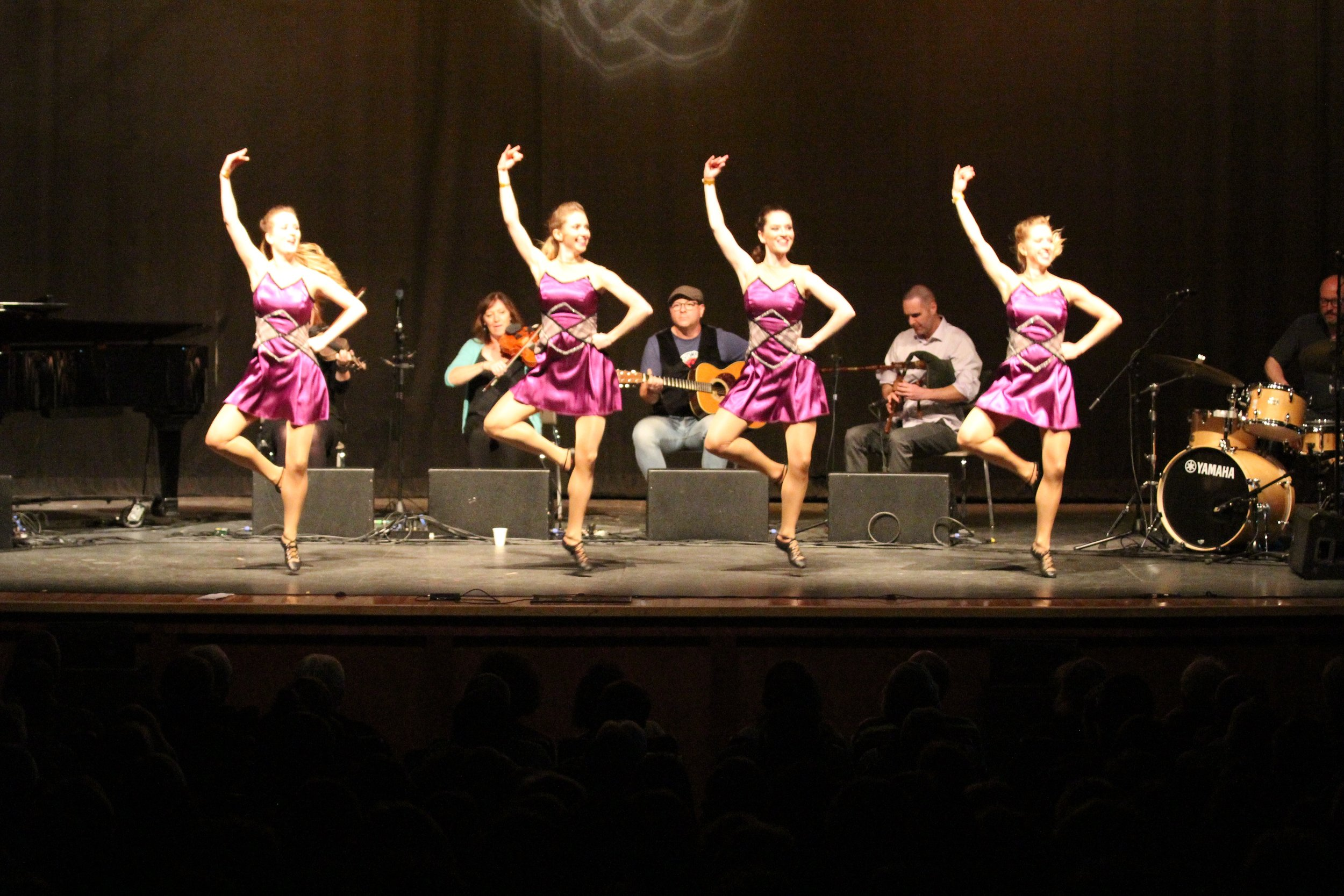 Happy highland dancers
