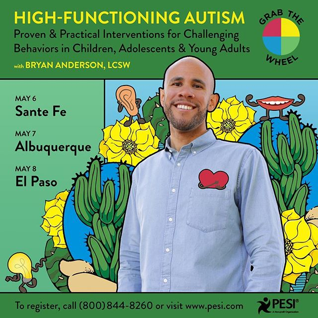 New Mexico and West Texas!  I will be in your area presenting Grab The Wheel very soon! Link to register in bio. #albuquerque #santafe #elpaso #teachers #autismawareness #autism #specialeducation #mentalhealth