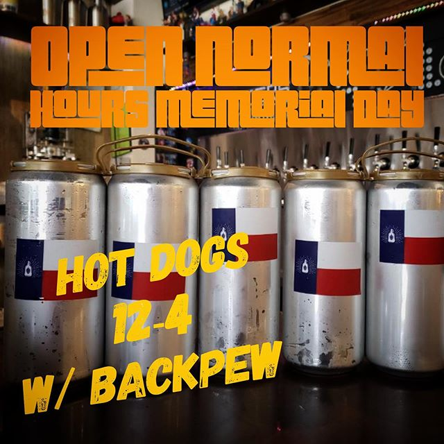 Stock up on crowlers this weekend and we will be here normal hours Monday. Plus we will be our front grilling with @backpewbrew - free hot dogs and delicious beer? Yes please. #craftnotcrap