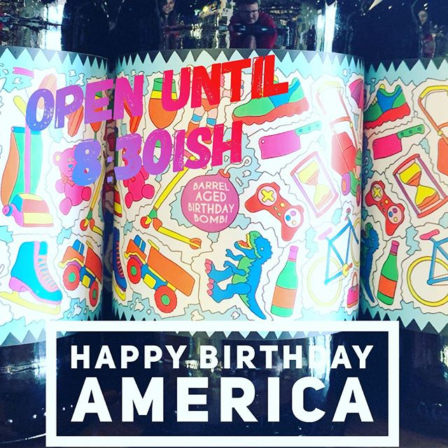 @prairieales knows how to celebrate. Come by the shop, get some good brews, be safe and have fun today! We close shop after sundown. Last call 8:30. #craftnotcrap #happybirthdayamerica