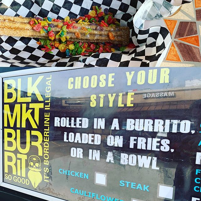 Need a bite with some delicious beers? Come check out @blackmarketburritos at BLaY now! Lots of fresh tapped Friday goodies too! #supportsmallbusiness #supportlocal #craftnotcrap #fruitypebblesonafuckingchurro