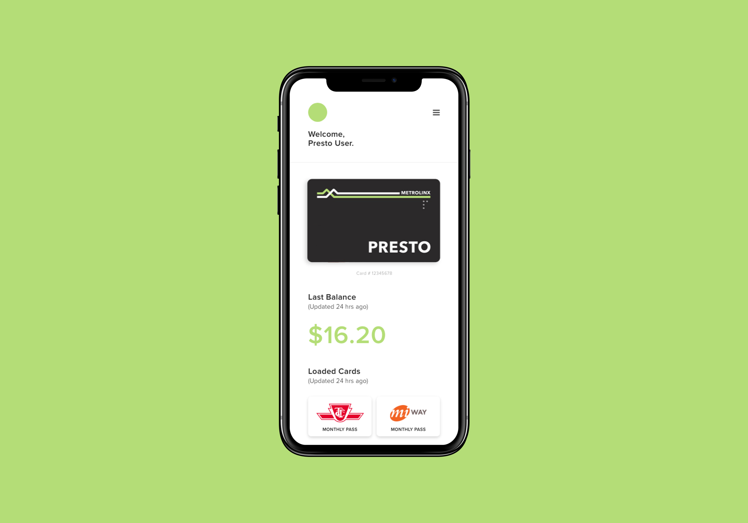 Presto App - With Apple Pay integration, you can go anywhere.