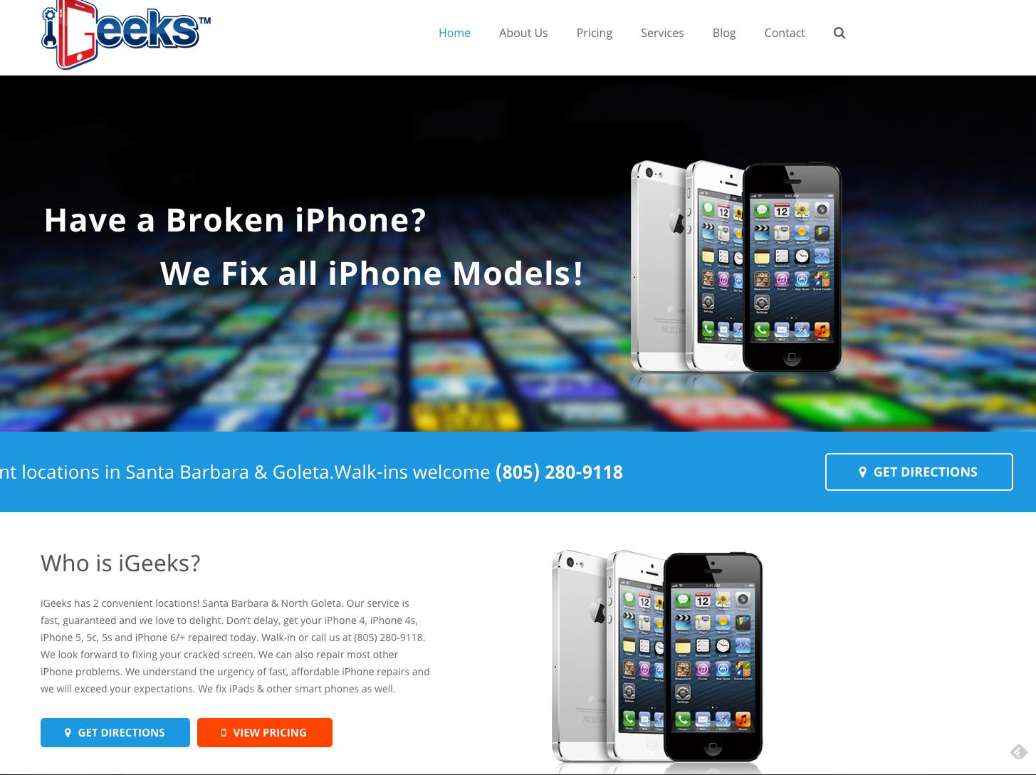 iGeeks - iPhone repairs in Santa Barbara, CA