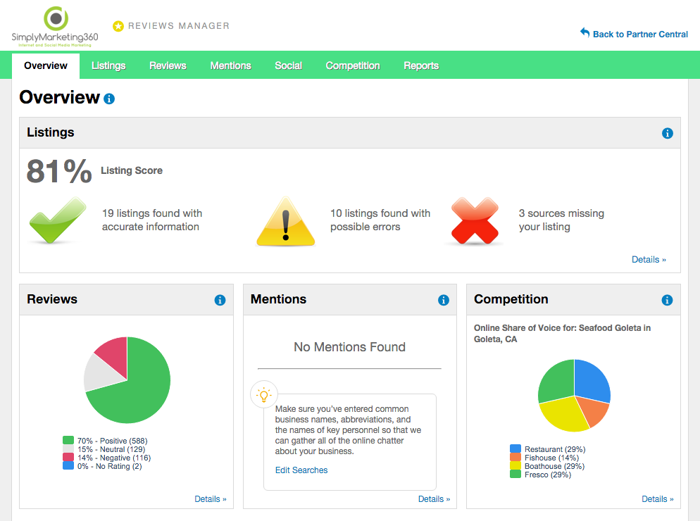 Reviews Manager Dashboard