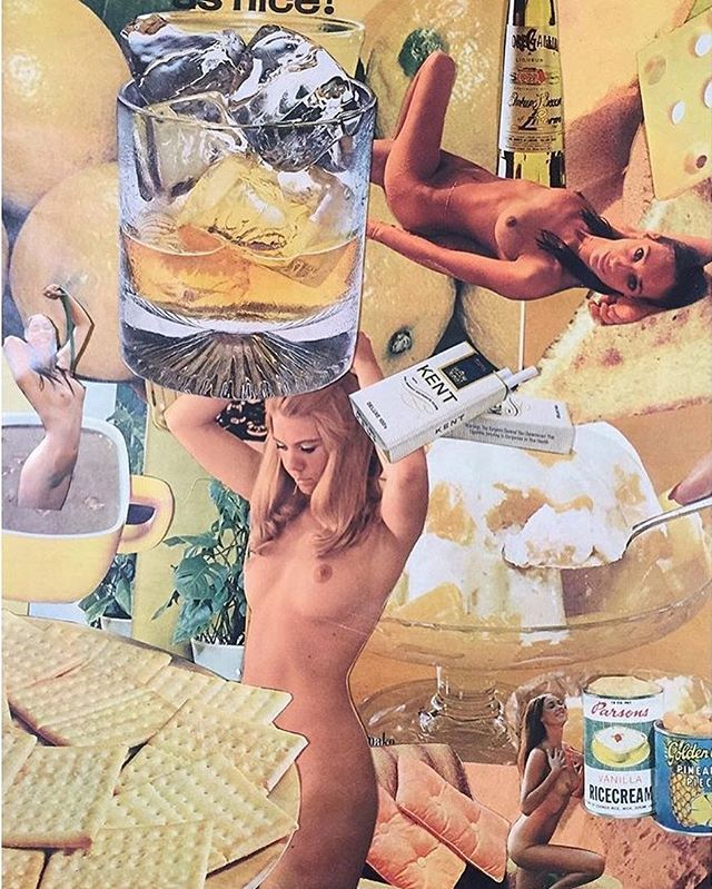 Collage I did many moons ago. Where can I buy vintage playboys in LA? #halp