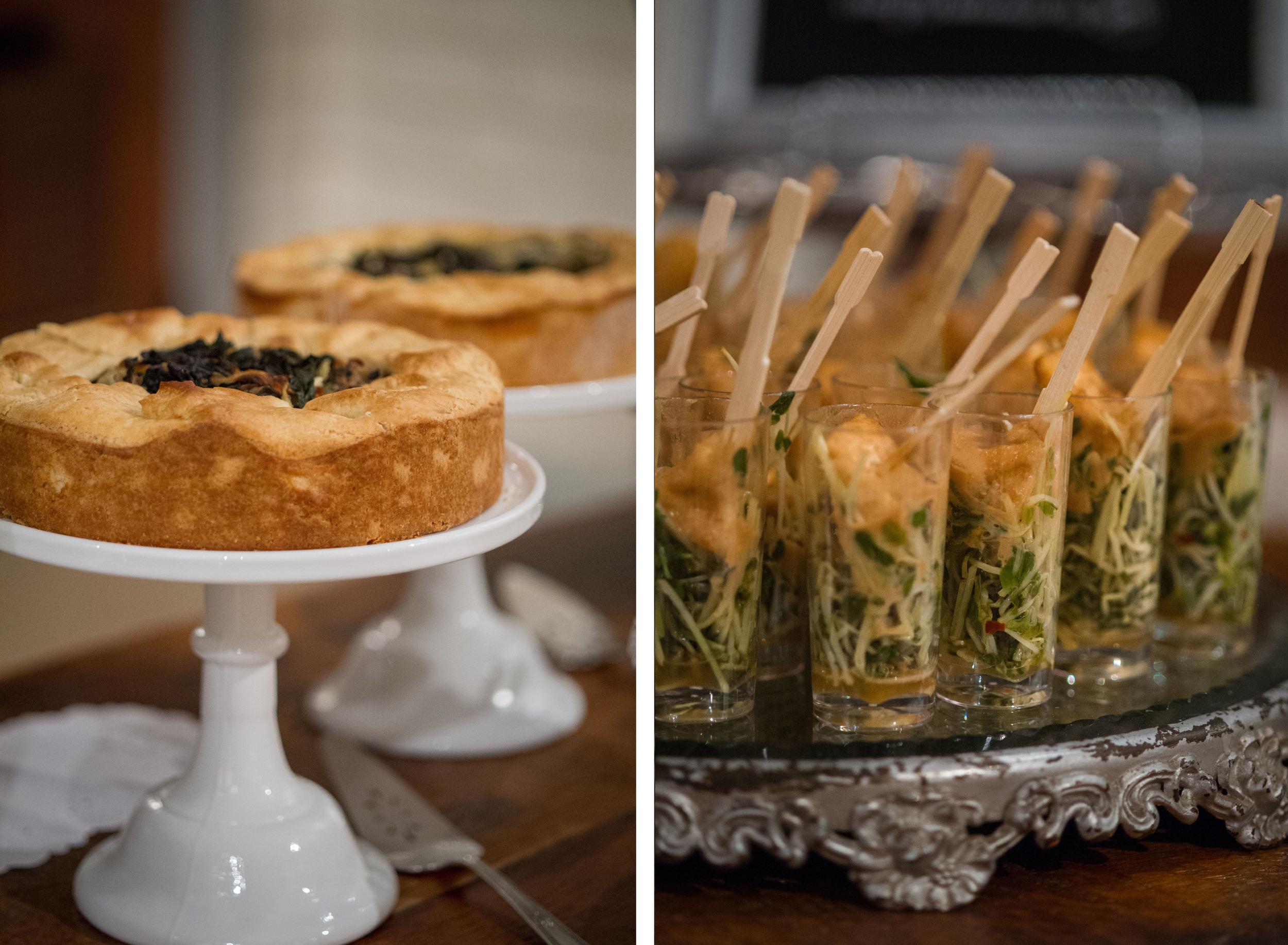 Savory tarts and tofu