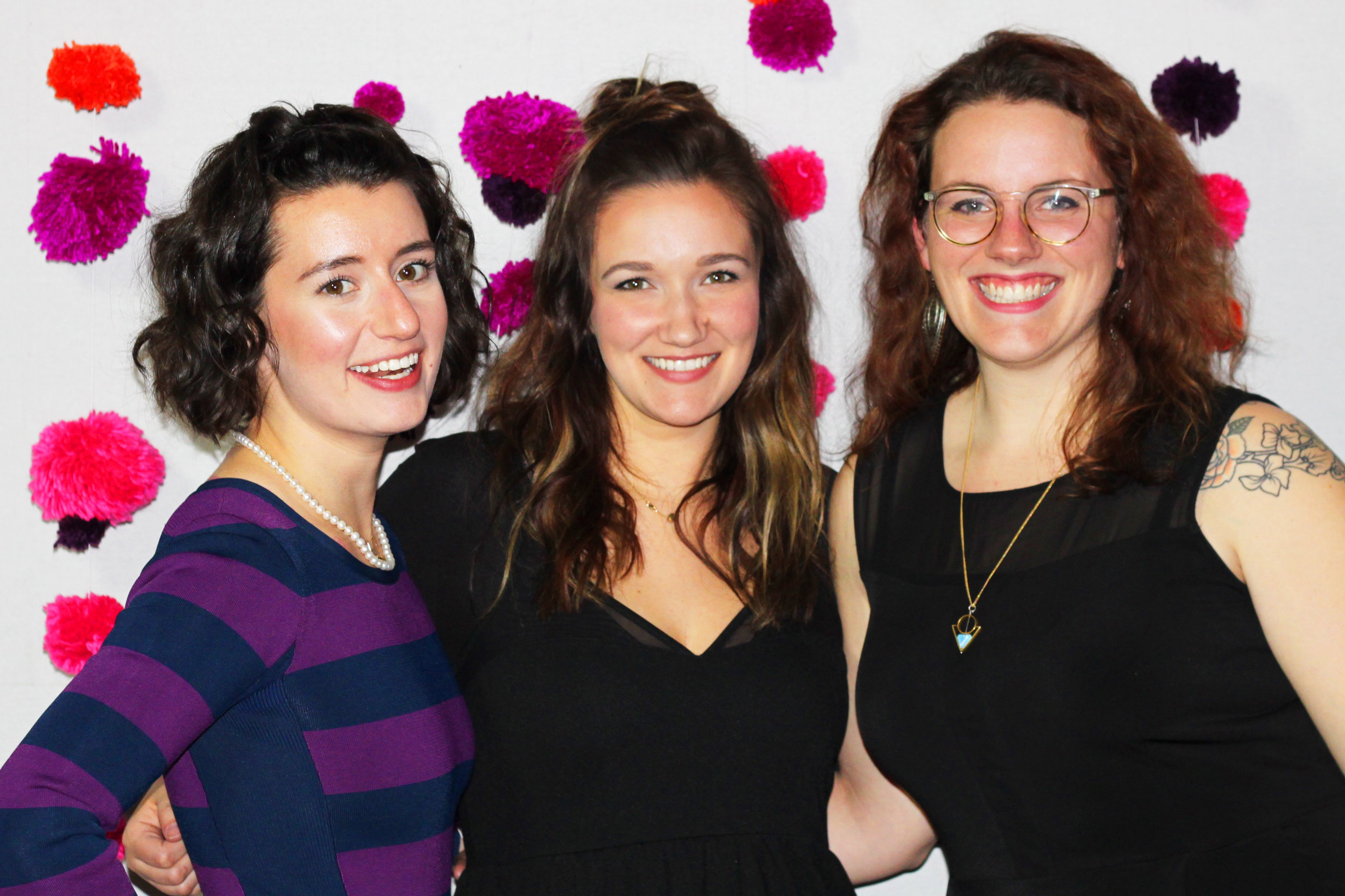 From left to right: Shannon Kaye, Amanda Glandon and Amelia Hruby