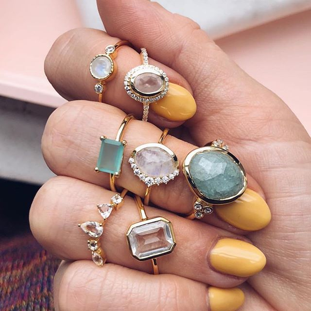 Gotta say, this fall palette moment from @localeclectic is just what we needed today. Make sure you check out these Leah Alexandra jewels and get all the topaz, moonstone, aquamarine and rose quartz goodness you could ever need at localeclectic.com! 📸: @localeclectic
