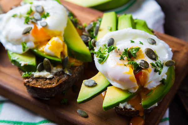 Avocado, Poached Eggs and Rye