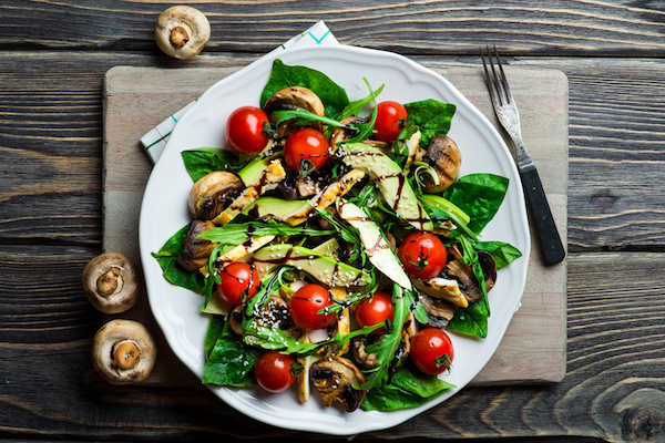 Avocado, Mushroom and Cherry Tomato Salad