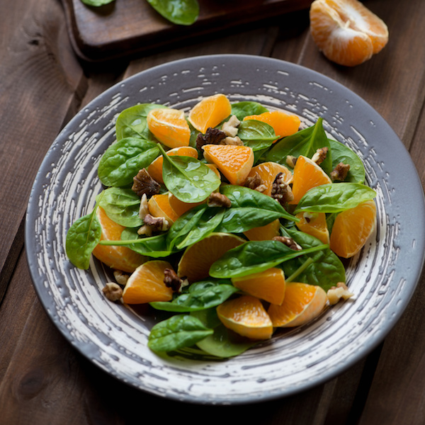Citrus, Spinach and Walnut Salad