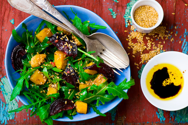 Roasted Pumpkin, Beetroot and Rocket Salad