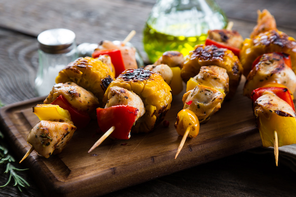 Seasoned Turkey Skewers