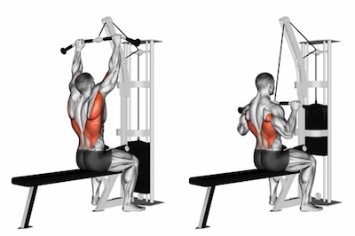 Wide Overhand Grip Lat Pulldown