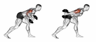 Standing One Arm Triceps Kick-Backs