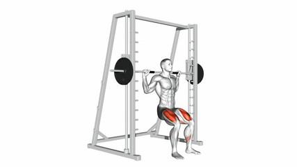 Smith Machine Chair Squats