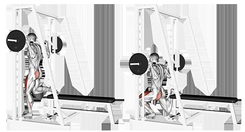 Single Leg Smith Machine Split Squat