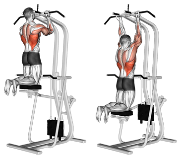 Assisted Close Grip Underhand Chin-Ups
