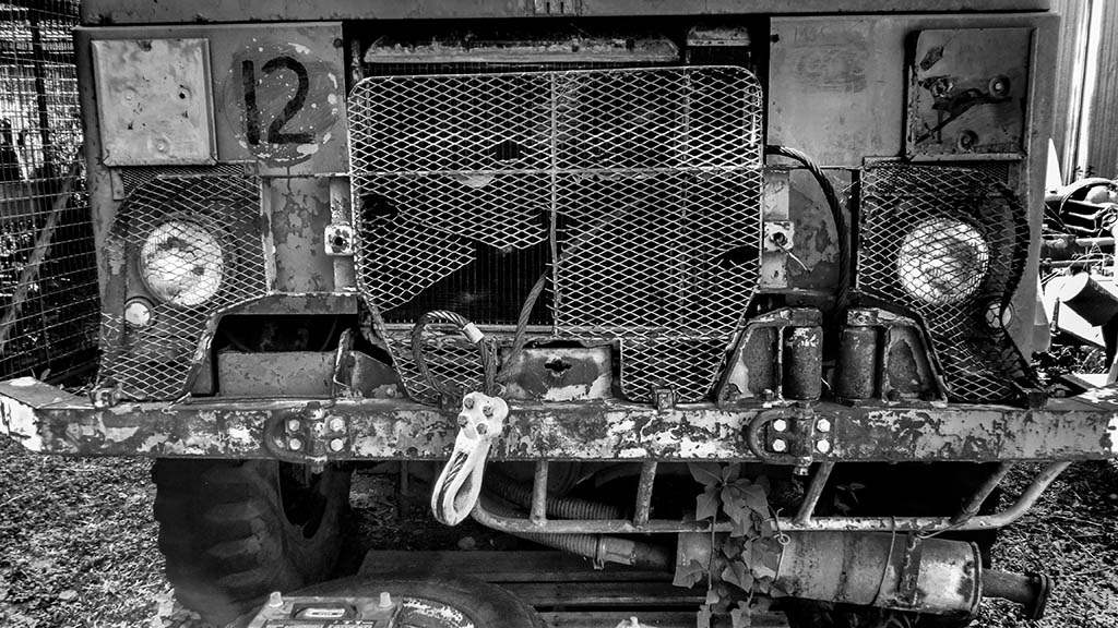 One of Bill's many old trucks. Photo by Angus Iwers.