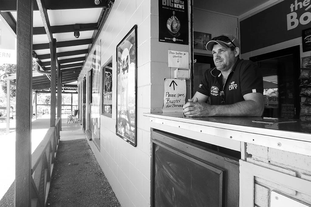 Nigel, Collinsville local publican. Photo by Dorothy Vallada.