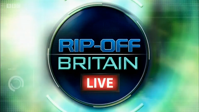 All images on this page are Screen Grabs from Rip Off Britain 2016 Live- Episode 4