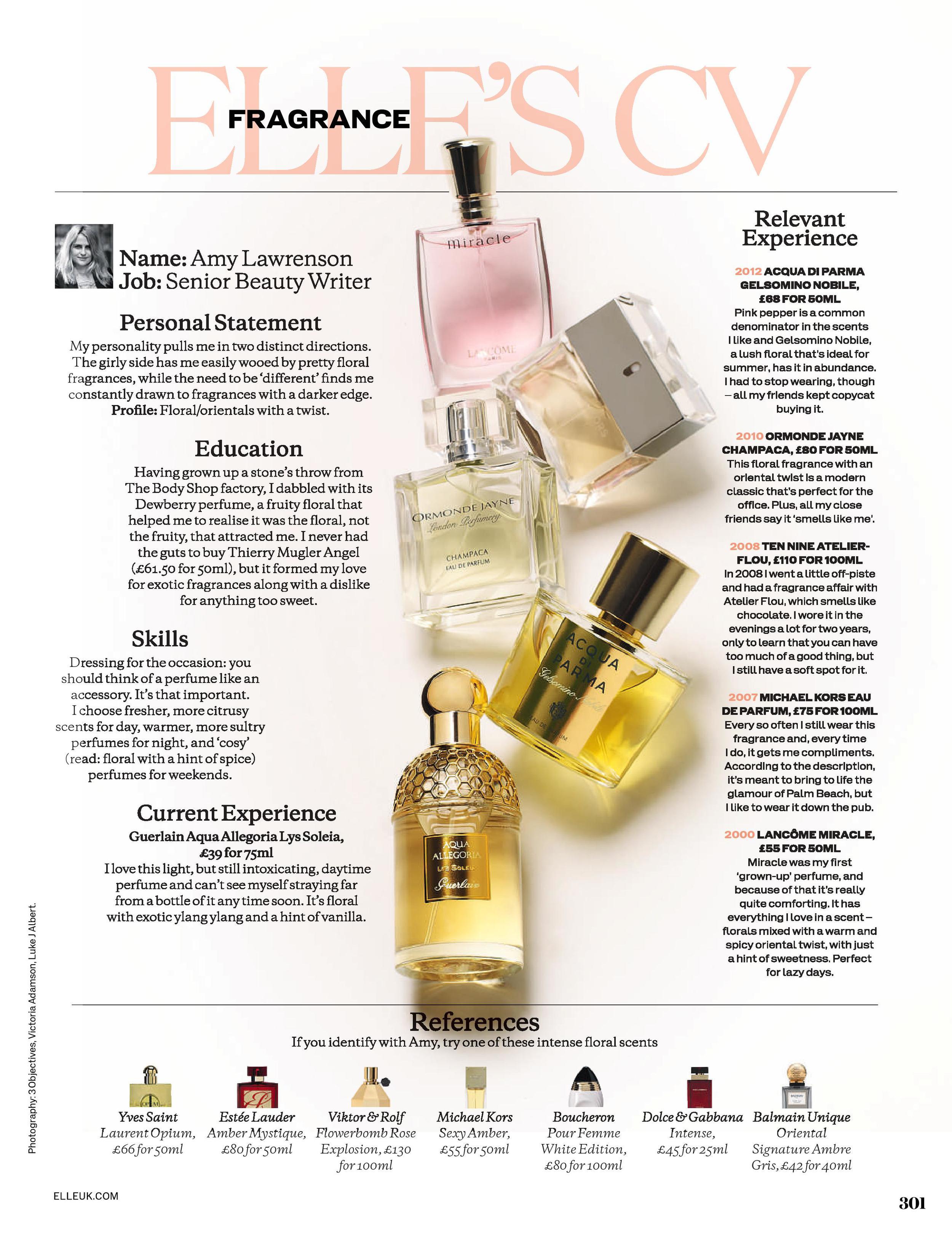 ELLE's Fragrance CV