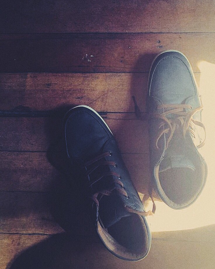 My shoes at these gorgeous wooden floor
