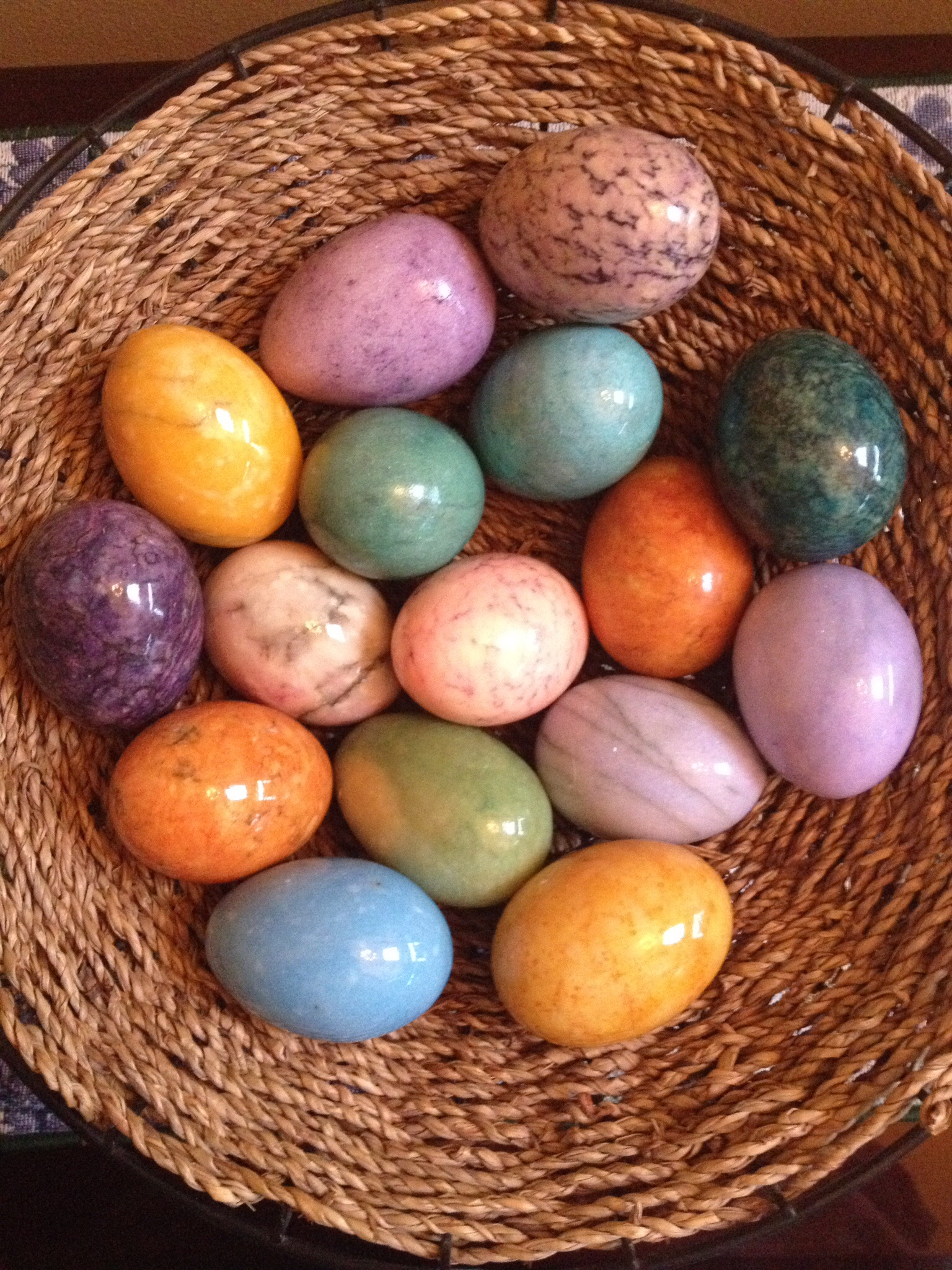 Frantic Finch's Marble Eggs given by her mom.