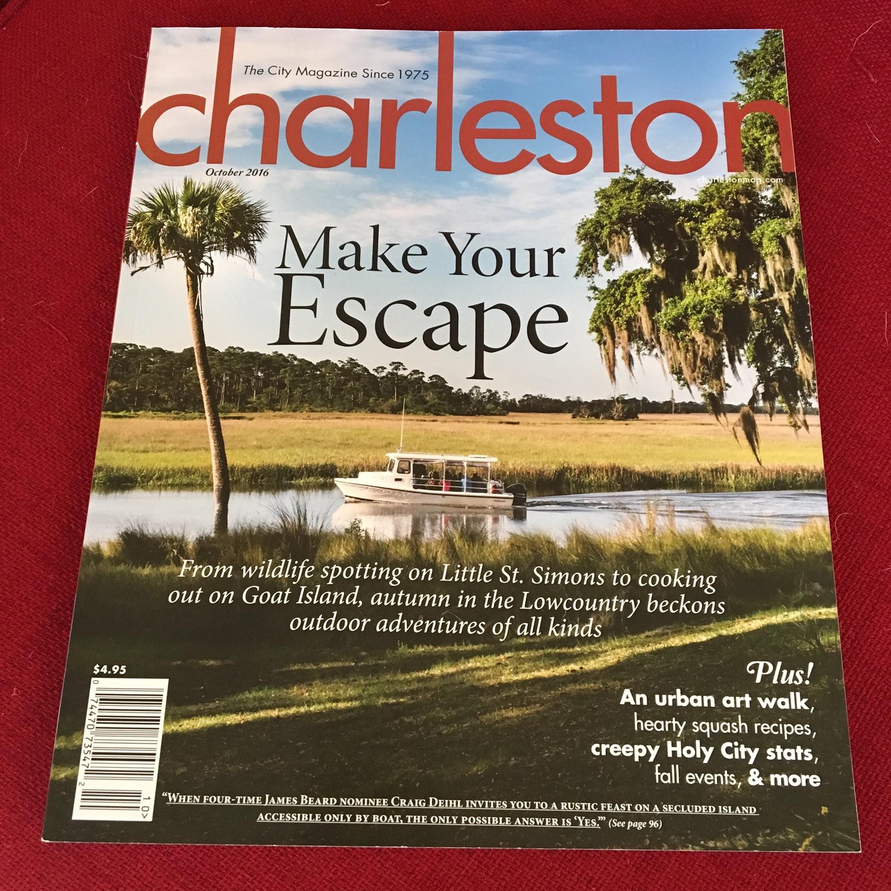Charleston Magazine, October 2016 issue