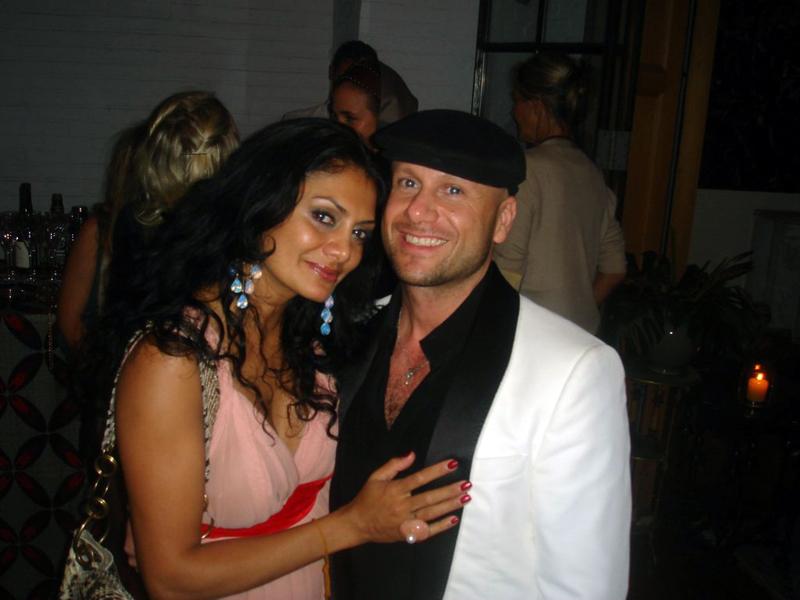Donna D'Cruz with Justo Artigas