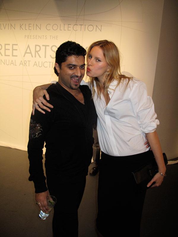 Hanut Singh with Karolina Kurkova