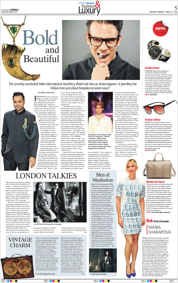 Indian Express, August 2012