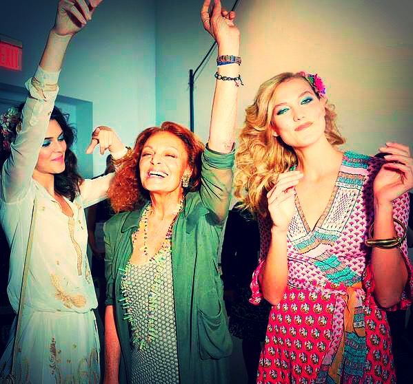 DVF, Kendall Jenner and Karlie Kloss