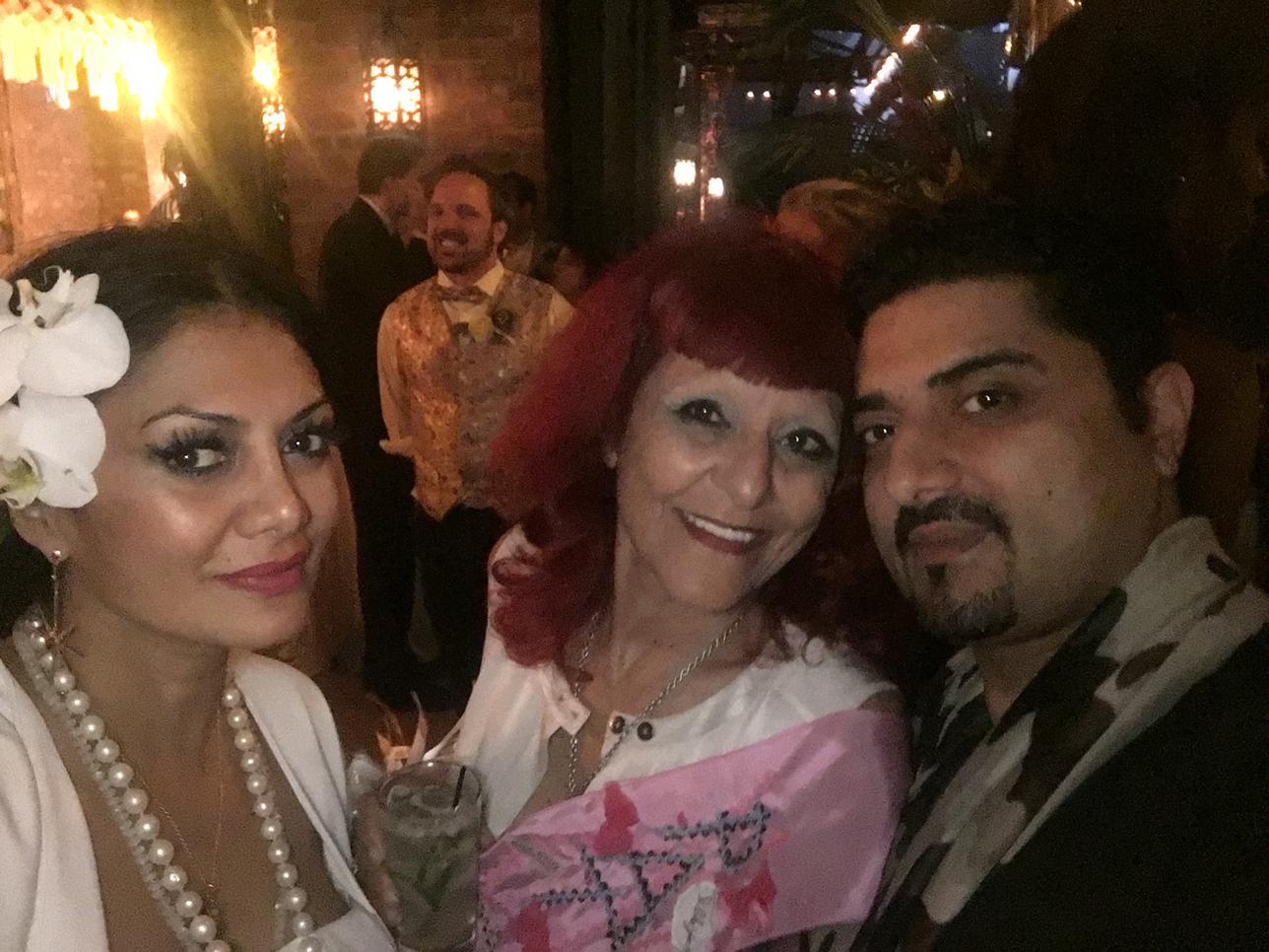 Donna D'Cruz, Patricia Fields and Hanut Singh
