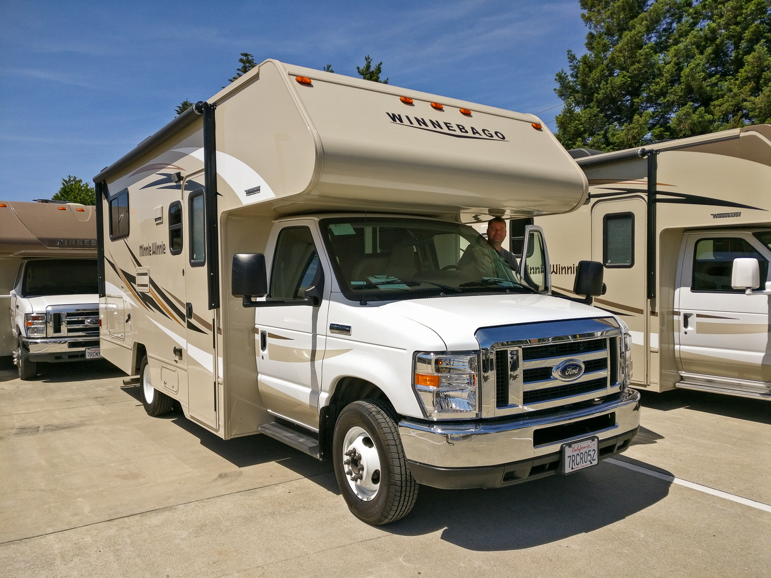 The gear around the gear - a 21ft RV rented for the road trip