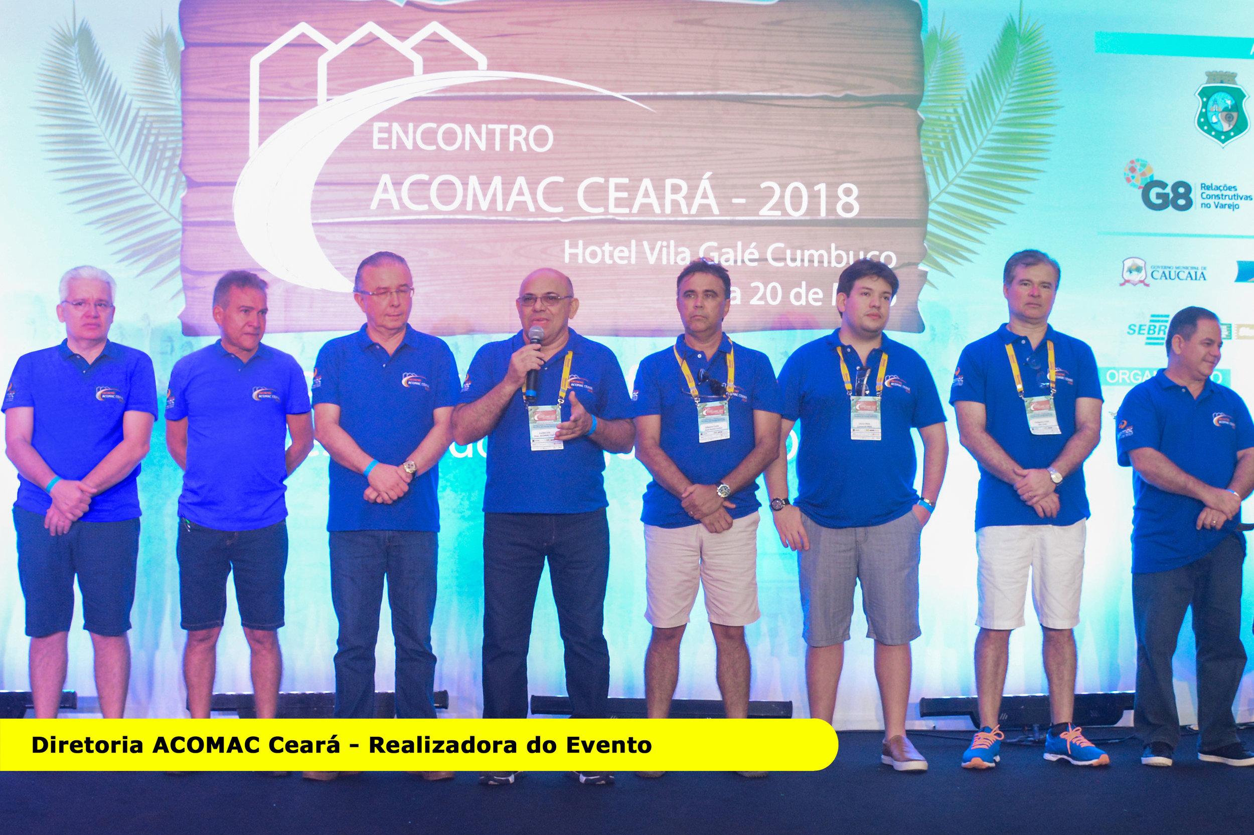Organizadores do Encontro ACOMAC Ceará no palco  Crédito Foto: Divulgação oficial do evento