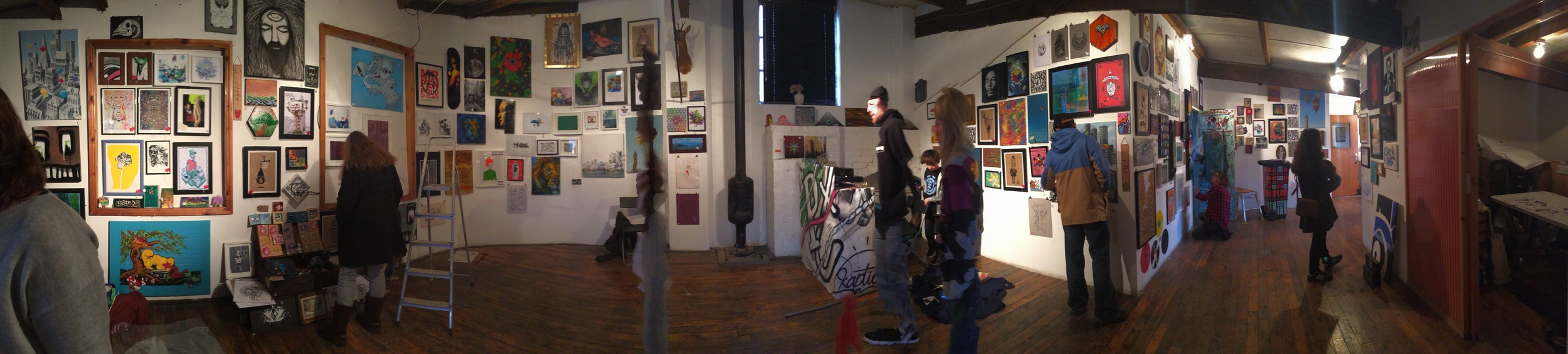 Thirtyfive Gamble Gallery panorama of One-Off Art Fair.