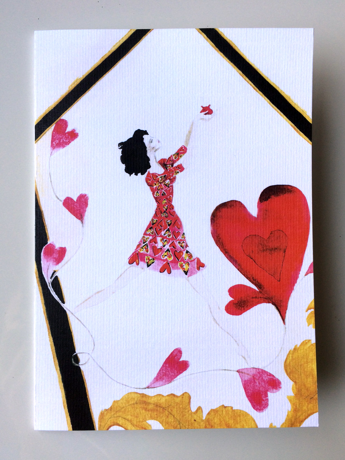 Gianni   Heart Dress  Card £3.50 Emily Catherine Illustration.