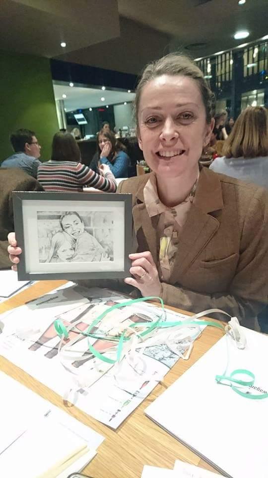 Happy Gina and my illustration! Happy Birthday Gina!