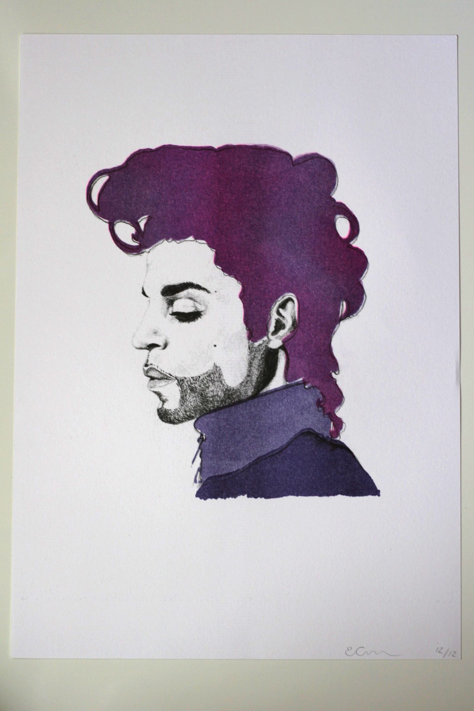 Prince Print is £15 and all proceeds go to the Jazz Foundation of America. Limited Edition of twelve.