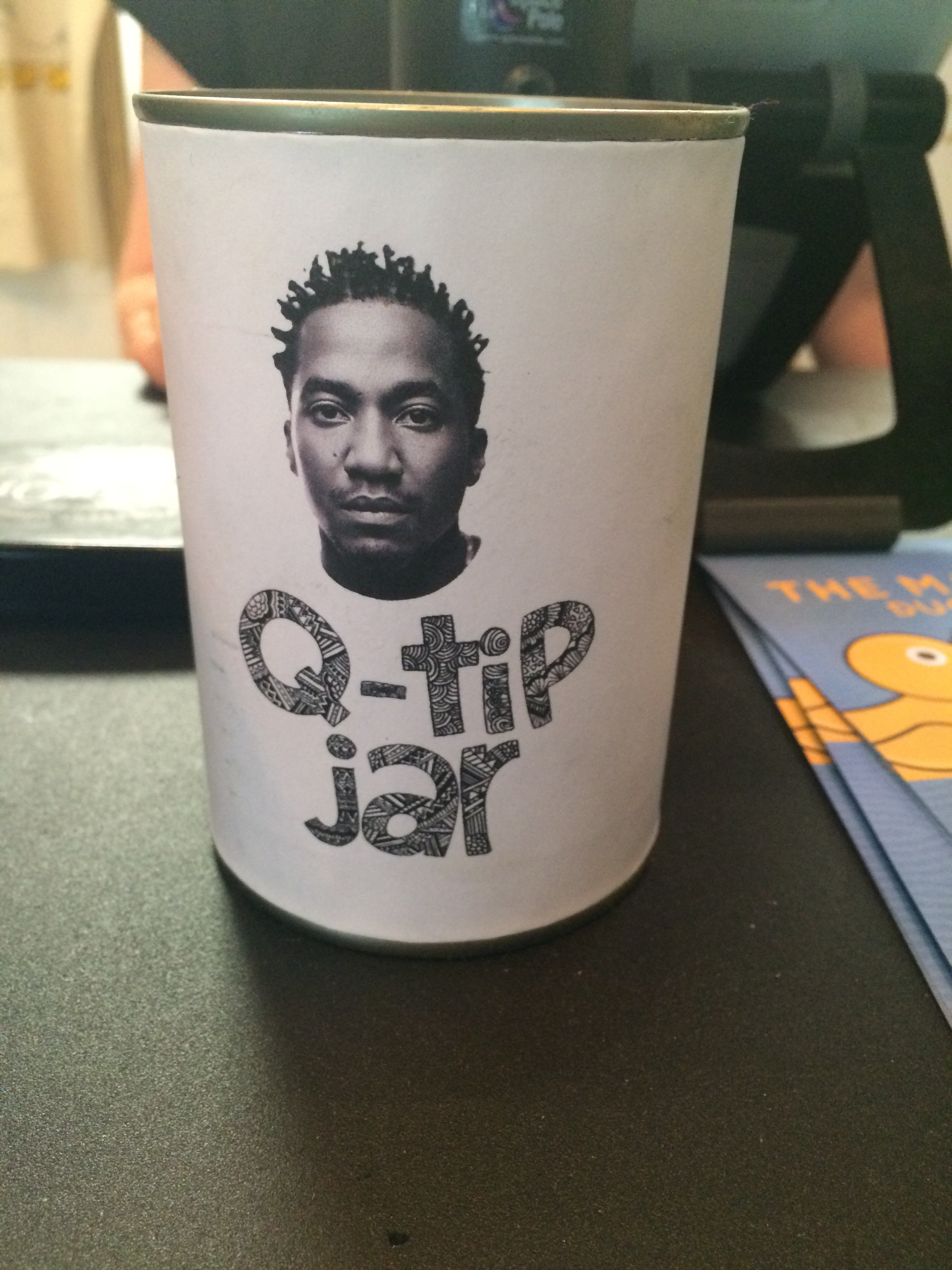 The Q Tip Jar at the brilliant Hip Hop Chip Shop in Manchester
