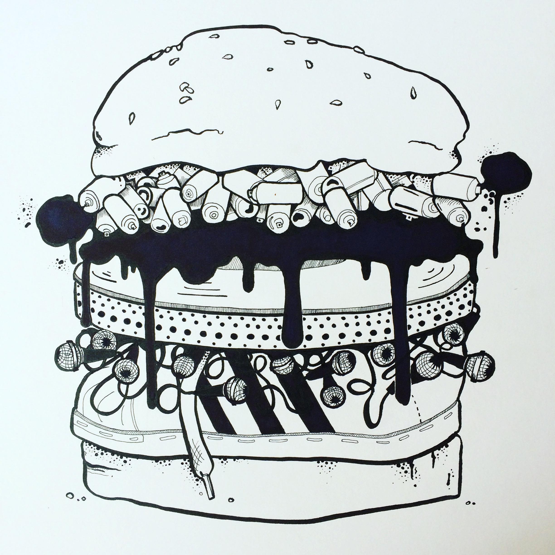 It's a triple stacked meaty Hip Hop burger my friends..... Wear it with pride when it arrives!