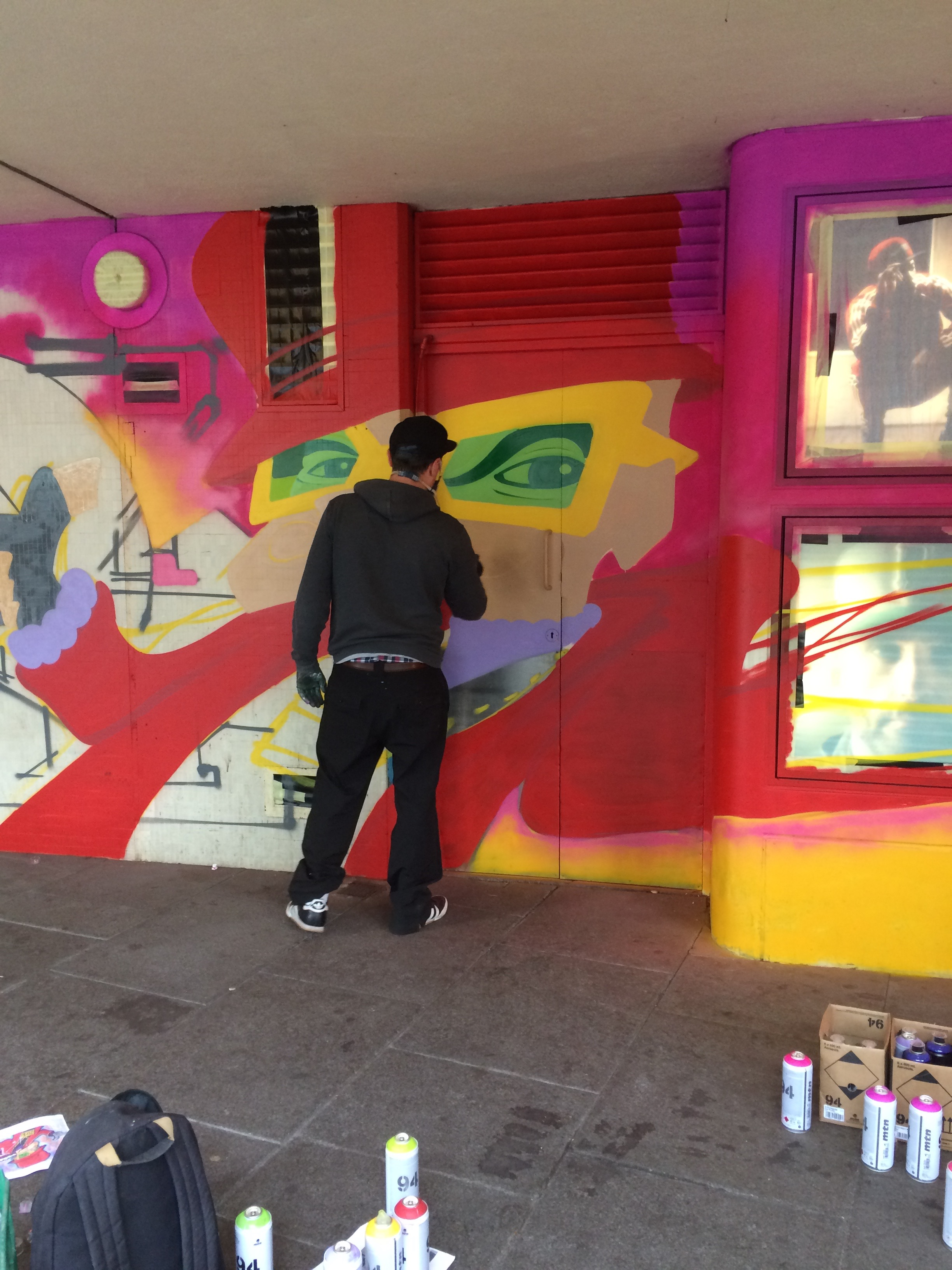 May 2nd was the Breakin' Jam. Street artists have been commissioned to paint the side of the Royal Concert Hall in celebration of the Breakin' Convention arriving in Nottingham.