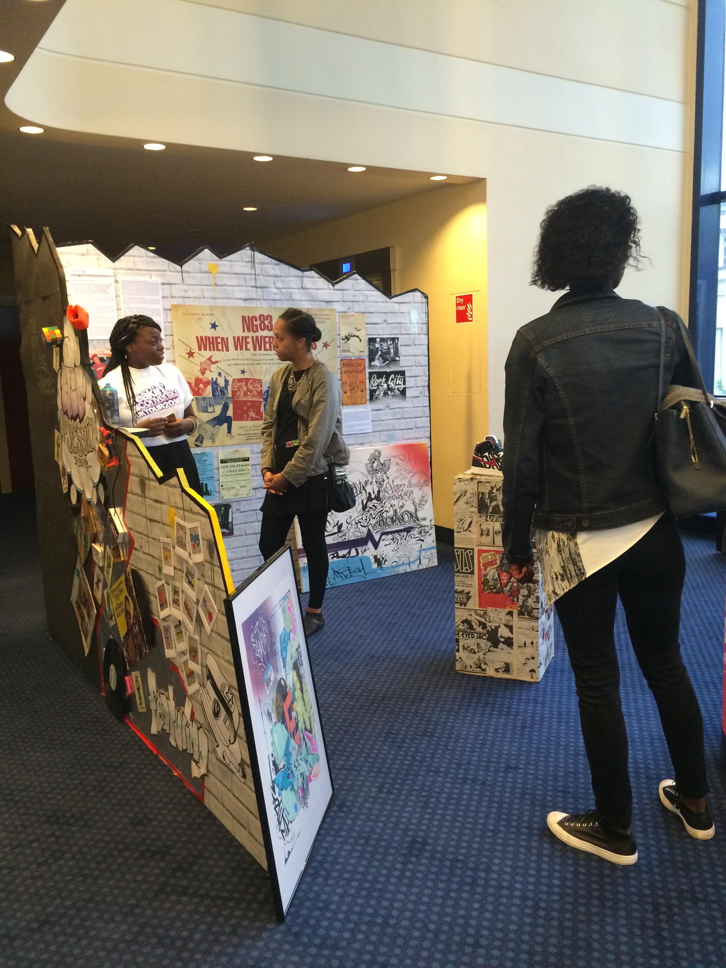 Saziso Phiri at the Anti Gallery stand, repping Nottingham.