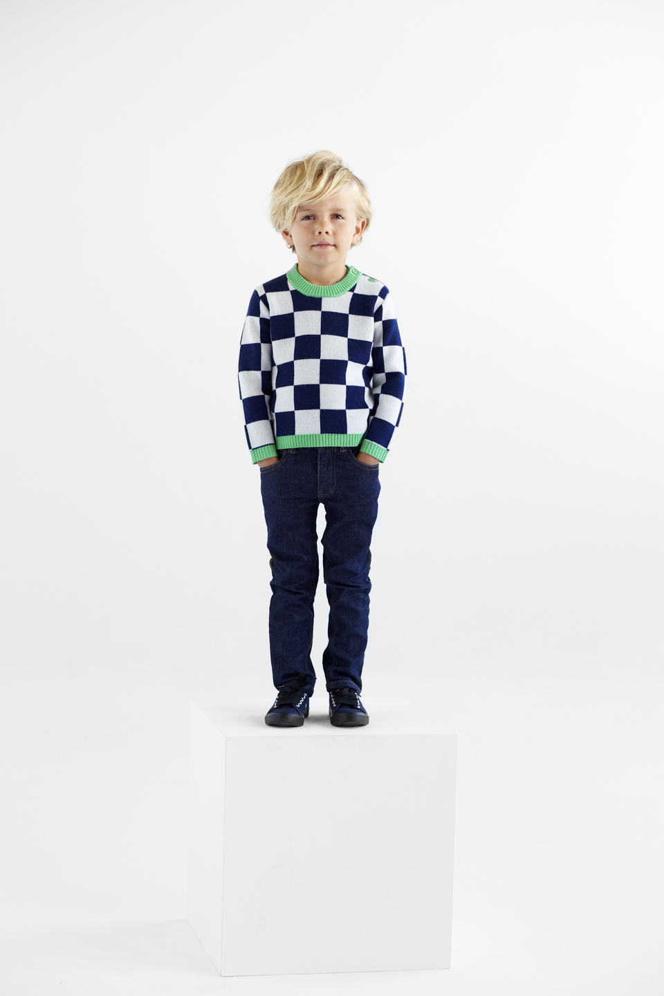 Atelier Child_FW15_The Check Navy Sweater_Hi Res.jpg