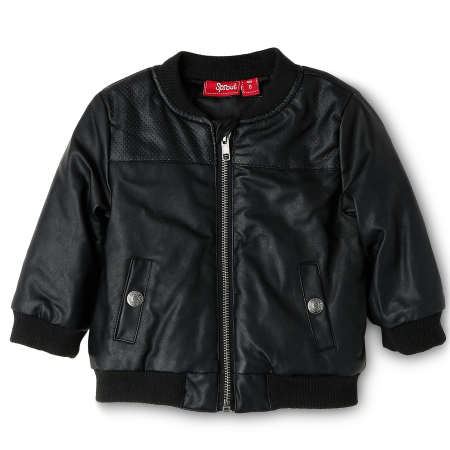 SPROUT LEATHER LOOK BOMBER $32.95