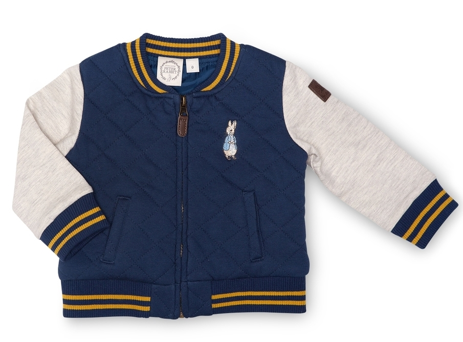 PETER RABBIT QUILTED BOMBER $54.95